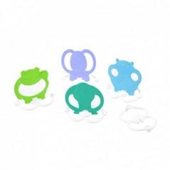 Crossbody dámská kabelka s výšivkami YH1636 světle šedá