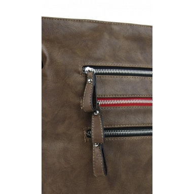 Elegantní dámská crossbody kabelka NH6059 přírodně hnědá