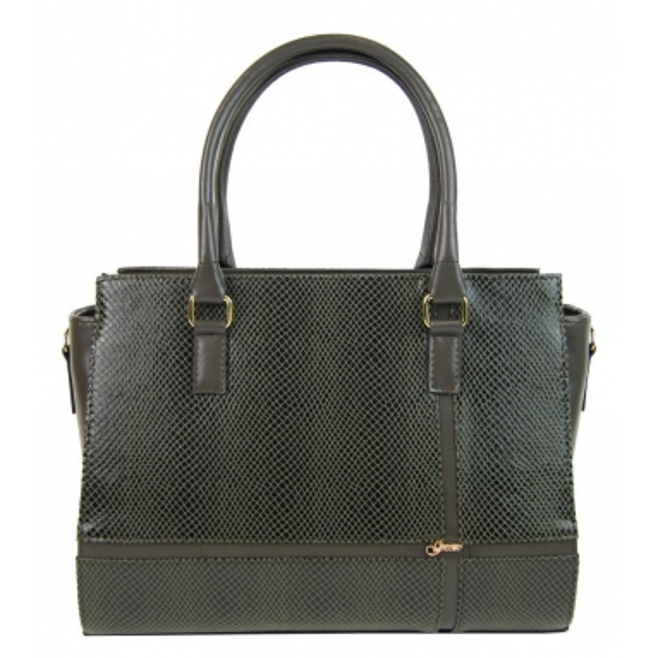 Luxusná zelená hadí elegantní dámská kabelka S679 GROSSO