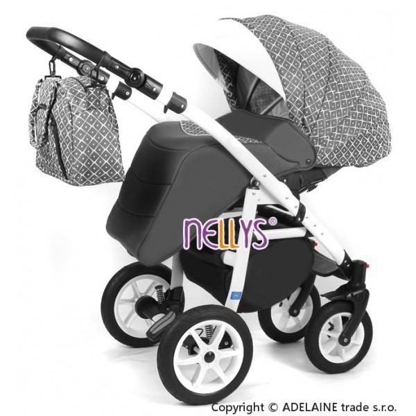 Velká hnědá kožená dámská kabelka přes rameno