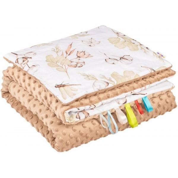 Riflová modrá dámská crossbody kabelka se stříbrnými doplňky H1725