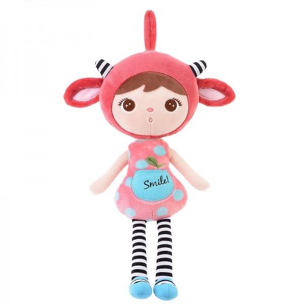 Růžová dámská elegantní kabelka Miss Lulu s čelní kapsou