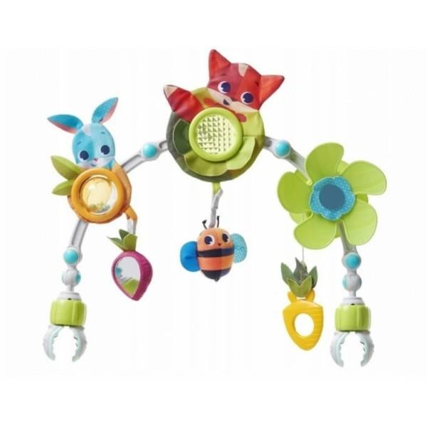 Růžová třpytivá dámská kabelka s mašlí S739 GROSSO