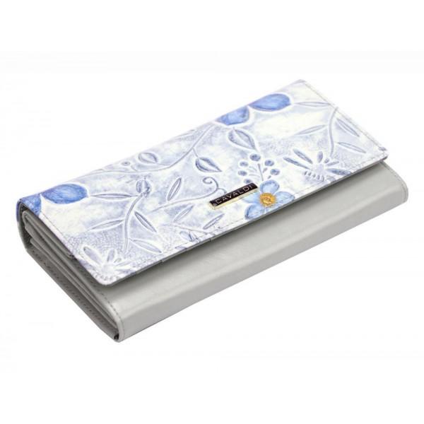 Lorenti Kožená růžová lakovaná vzorovaná dámská peněženka v dárkové krabičce