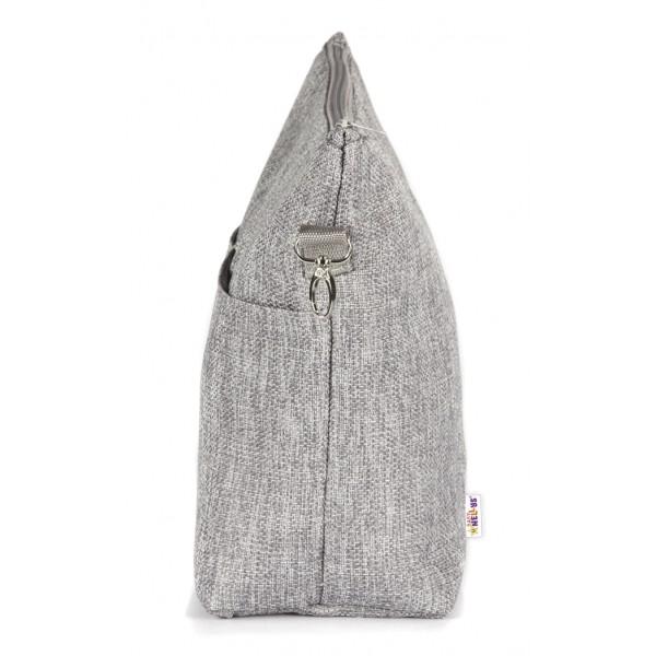 Kožená velká dámská kabelka Alma světle šedá