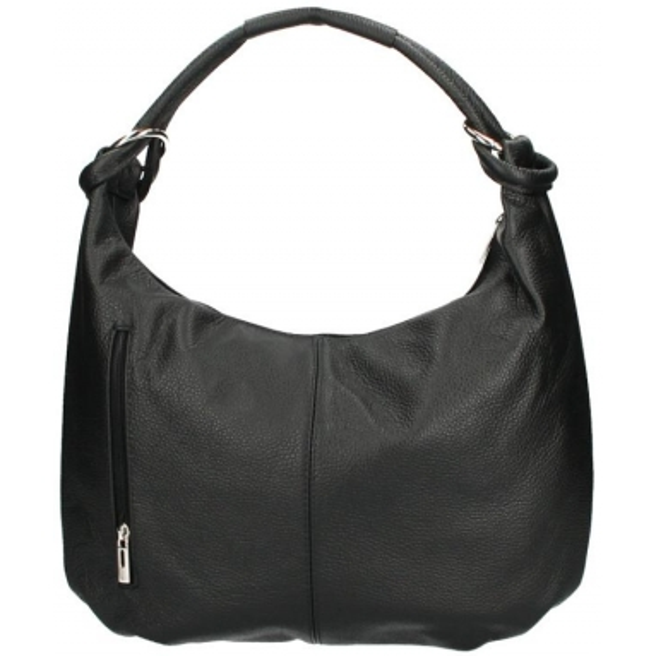 Kožená dámská kabelka přes rameno Reba černá