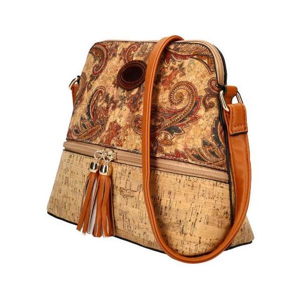 DAVID JONES Elegantní bílo-černá dámská kabelka do ruky CM5617
