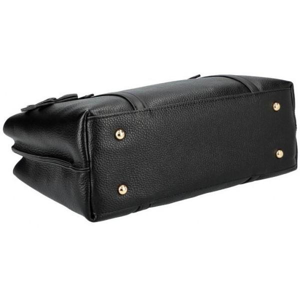 Elegantní červená lakovaná kabelka s krokodýlím vzorem S24 GROSSO