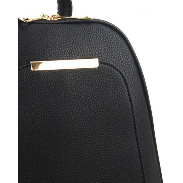 Velká kávově hnědá dámská kabelka přes rameno s bambulkou 5136-BB
