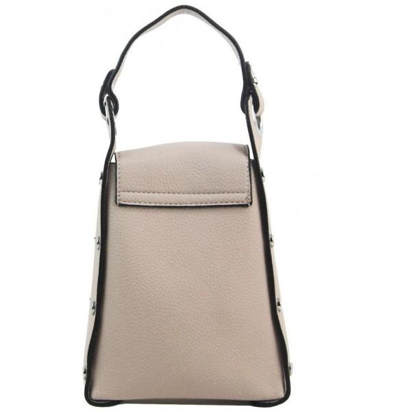 Camel hnědý dámský módní batůžek v kroko designu AM0106