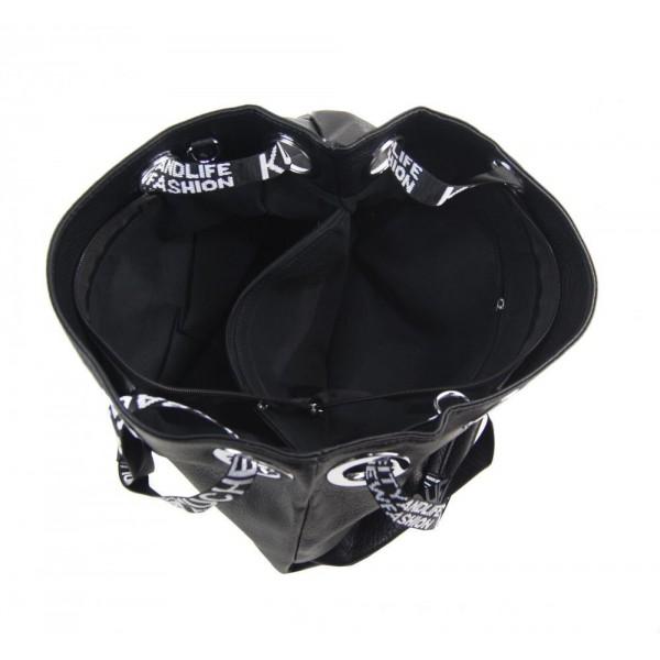 Černý malý dámský módní batůžek 7515